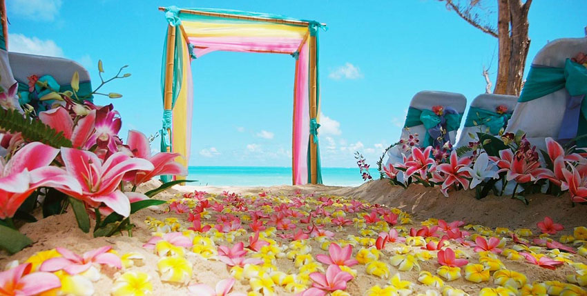 Beach wedding in India